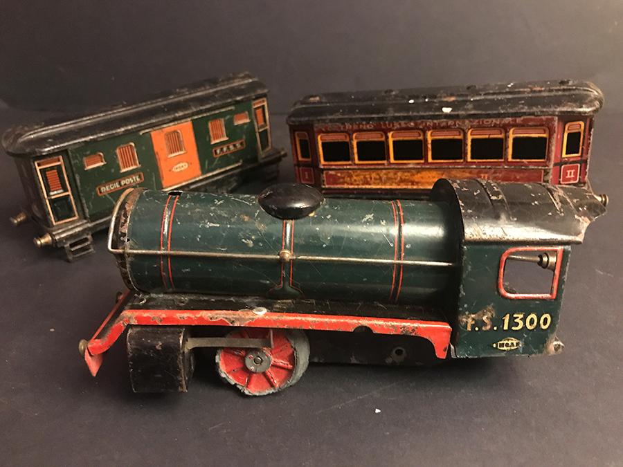 Vecchio Treno Jep Giocattolo D Epoca Latta Vintage & Antique Toys Other Vintage Tin Toys